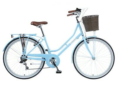 "Viking Belgravia Ladies Heritage Bike Traditional Bicycle 26"" Wheel 6 Speed Blue"