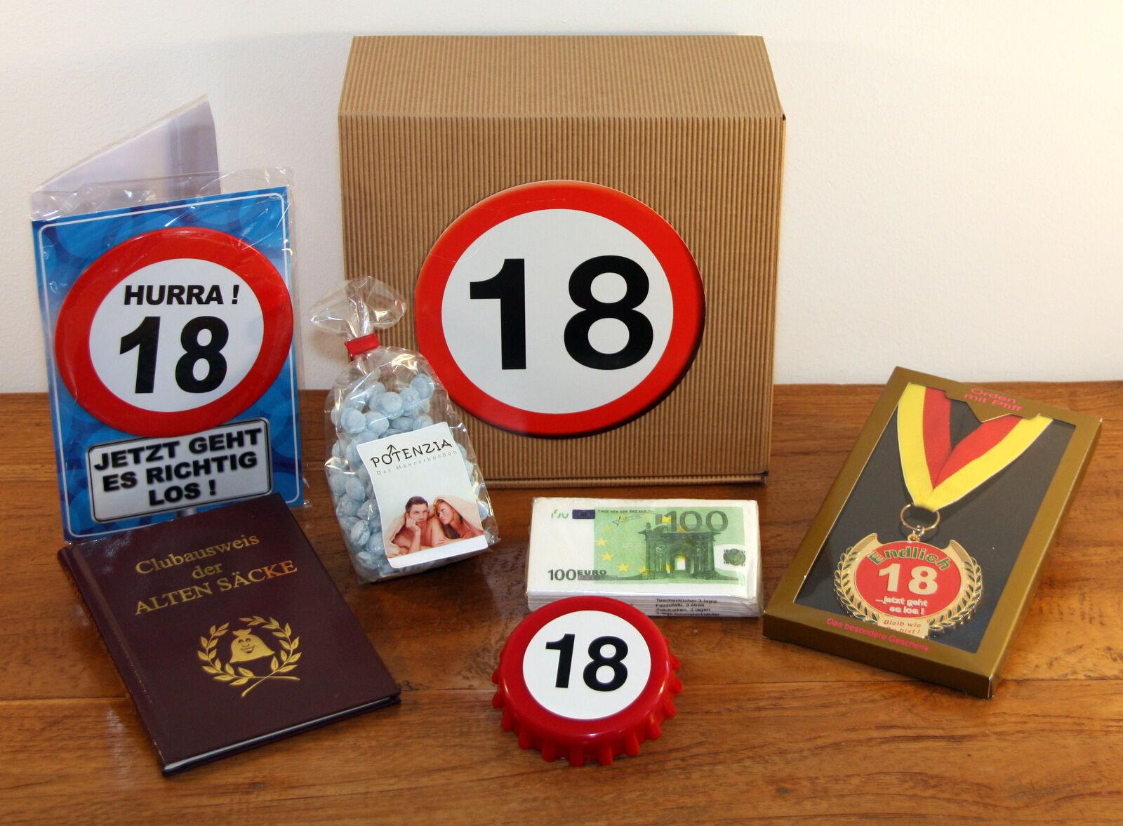 18 GEBURTSTAG GESCHENK Box Geschenkideen Geburtstagsgeschenk Mann ...