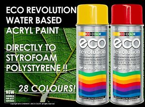 Deco color eco revolution water based acryl styrofoam for Eco friendly colours for painting