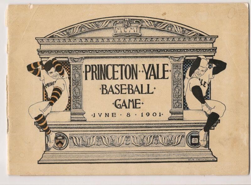1901 Princeton-Yale Baseball Program RARE!!