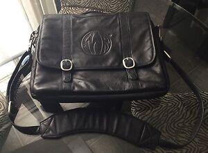 Genuine Leather Black Computer Briefcase