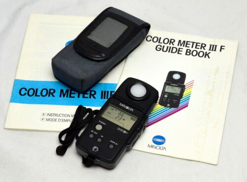 Minolta Color Meter IIIF Excellent Condition In Case With Instructions
