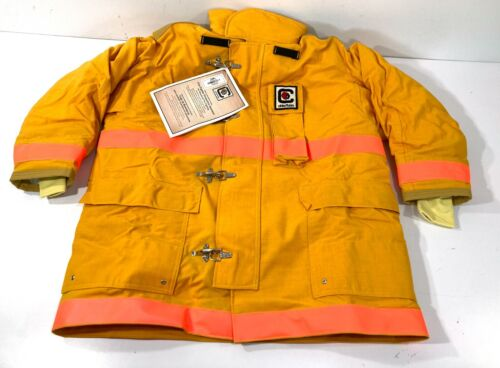 """NEW FIRE-DEX CHIEFTAIN 35M FIREFIGHTER BUNKER FIRE FIGHTING TURNOUT COAT XL 50"""""""