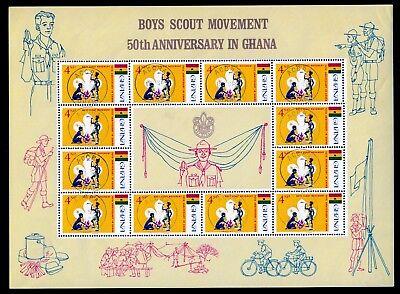 Ghana 319-21, O, Kleinbogen, 50 Jahre Pfadfinder in Ghana