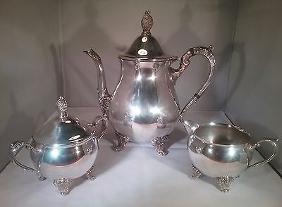 Vintage Galleon silver plated 3 piece tea set