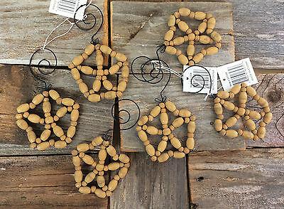 Starfish Christmas Ornaments (THT Christmas Ornaments - Star Fish Sand Dollar Beach Nautical Snowflake)