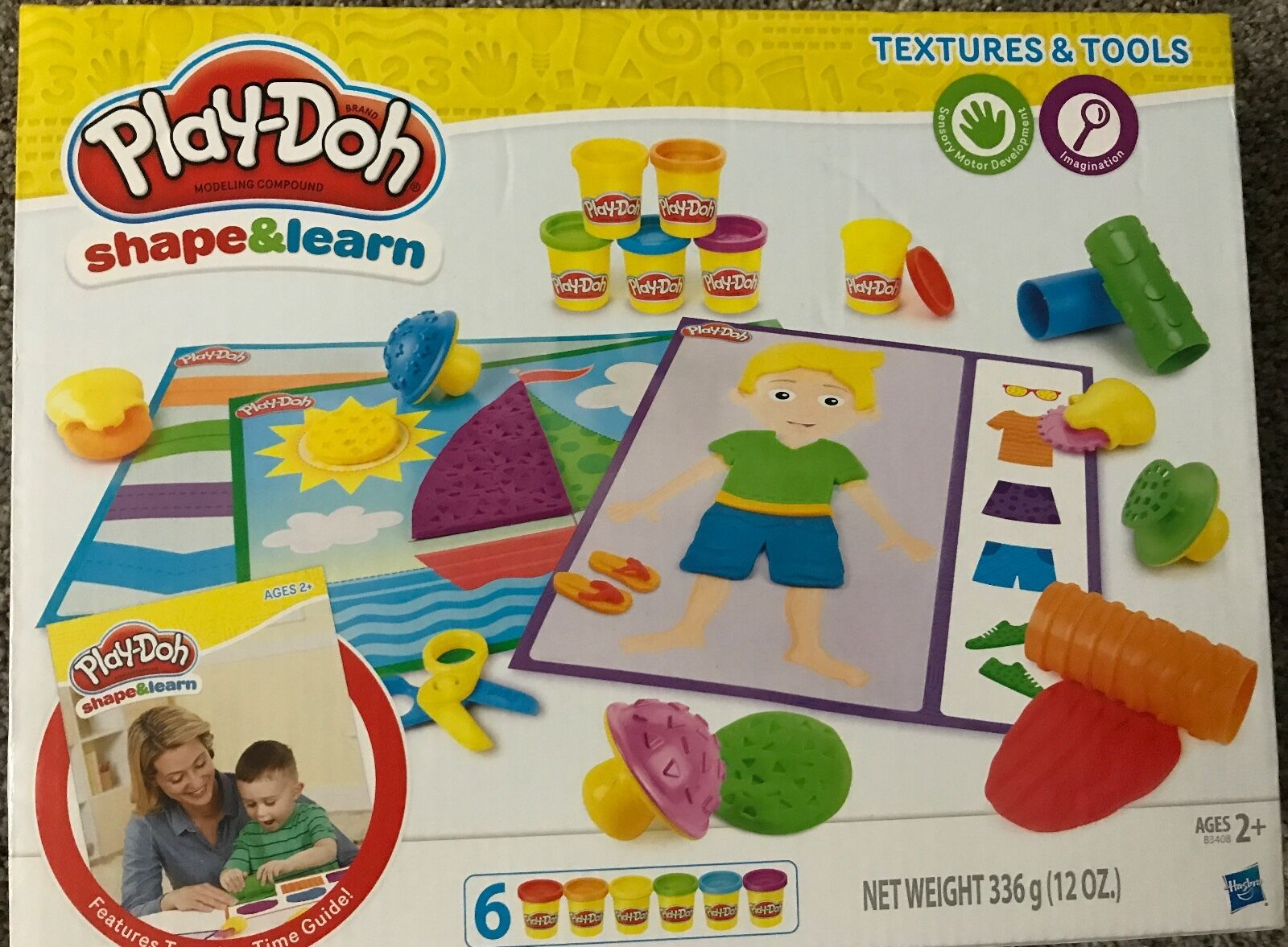 play doh shape and learn textures