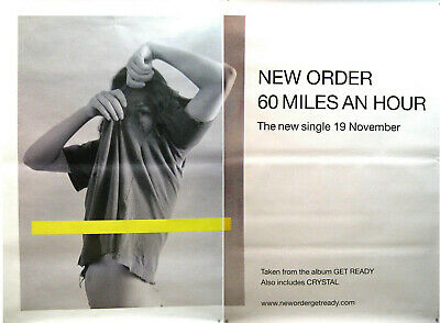 NEW ORDER RIESENPOSTER GIANT POSTER 60 MILES AN HOUR - ca. 200x150cm - 2 PARTS - 2 Riesen Poster