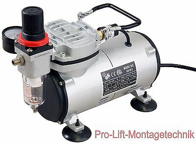 Airbrush Kompressor AS18-2 Start Stop Automatik Airbrushkompressor Öl-frei 01766