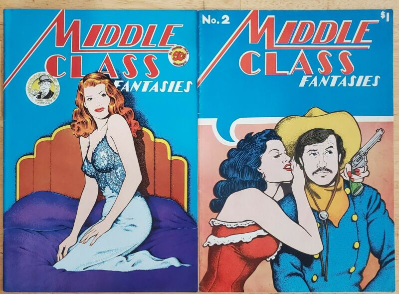 Middle Class Fantasies 1 & 2 (1973) Underground Comic FINE Free Shipping!