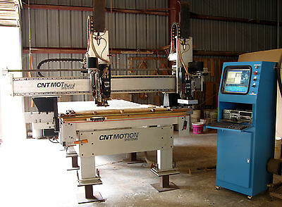 Cnt Motion 1000 With Dual 10 Hp. Spindles Cnc Router  Automatic Tool Changers