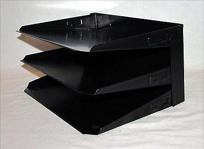 Vintage Metal File Paper Holder Organizer Tray Desk or Wall Mount Steelmaster