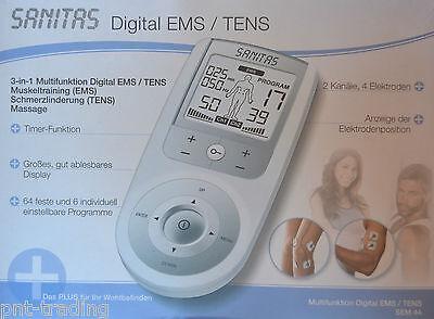 Sanitas SEM 44  3in1 Digital EMS TENS Tensgerät Multi  Elektrostimulationsgerät