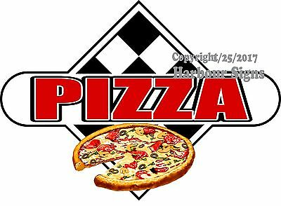 Choose Your Size Pizza Decal Food Truck Restaurant Concession Vinyl Sticker