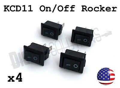 4 Kcd11 Onoff Rocker Switch 2-pin Spst - 3a 250v 15x10mm - 4 Pack