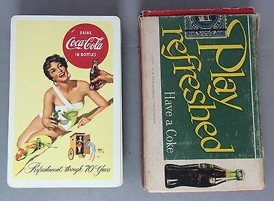 1956 Complete 52 COCA COLA Soda PLAYING CARDS & BOX Swimsuit Original Vintage