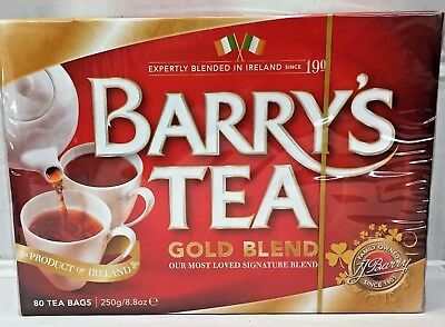 Barry's Irish Tea Gold Blend 80 Tea Bags 8.8 oz Barrys Barrys Gold Blend Tea Bags