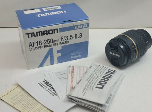 Tamron AF18-250mm F/3.5-6.3 for zoom lens for Pentax w/ Box & Manual
