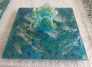Exquisite Glass Platters, Wall Hangings & Rolling Trays
