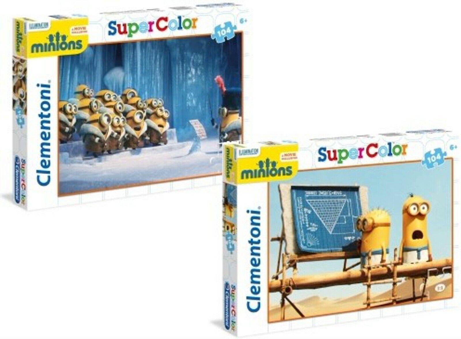 Clementoni Minions Puzzle Super Color 104 Teile 2 Modelle Auswahl NEU
