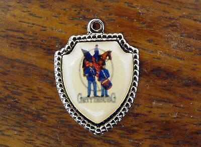 Vintage silver PENNSYLVANIA STATE GETTYSBURG SOLDIER TRAVEL SHIELD charm #E4