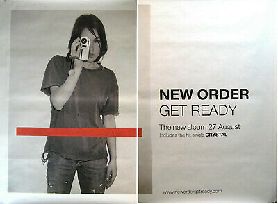 NEW ORDER RIESENPOSTER GIANT POSTER GET READY - ca. 200x150cm - 2 TEILE 2 PARTS - 2 Riesen Poster