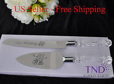 OUR WEDDING CAKE KNIFE AND SERVER SET ...
