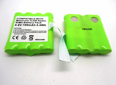 2 x 4.8V BATTERY COMPATIBLE WITH MOTOROLA TLKR T3 T4 T5 T6 T7 T8 WALKIE TALKIE