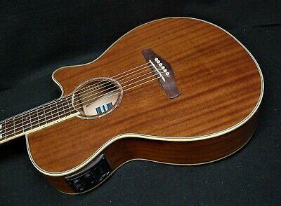 IBANEZ AEG12II-NMH Mahogany Acoustic Electric Cutaway Guitar Fishman. AEG12II-NT