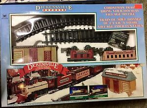 Christmas train sets (two)