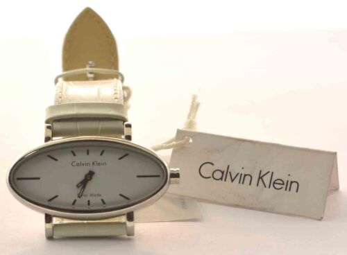 CALVIN KLEIN WHITE QUARTZ WRIST WATCH NEW WITH TAGS K7023074