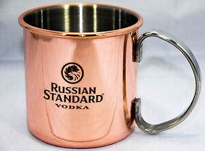 2 x Sehr edle Russian Standard Vodka Design Kupfer Becher, Tasse, selten