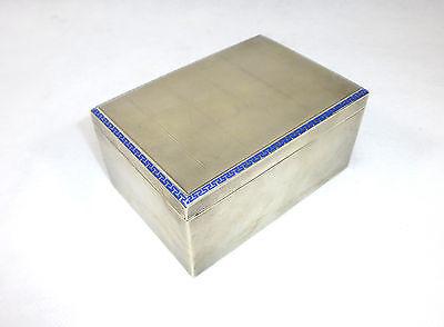 Ausgefallene Silber Dose mit Emaille um 1900