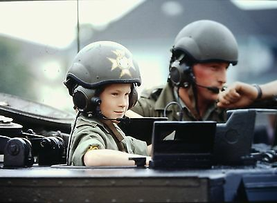Prince Harry Riding A Tank With  The Light Dragoons    Orig  35Mm Color Slide