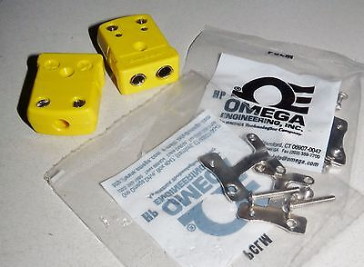 Lot Of 2 New Omega Type K Thermocouple Connectors With Pclm Cable Connectors