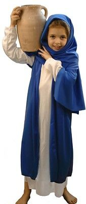 Nativity-Easter-WHITE & BLUE BIBLE VILLAGER/MARY Fancy Dress Costume ALL AGES - Bible Costumes For Girls