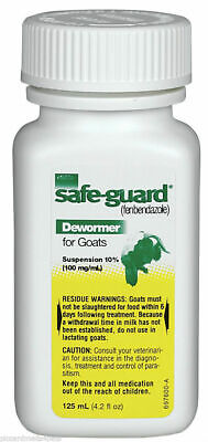 Safe-guard Goat Wormer Fenbendazole 125 Ml 100mgml By Intervet