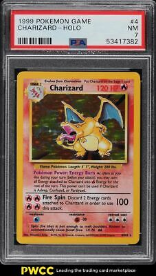 1999 Pokemon Base Set Holo Charizard #4 PSA 7 NRMT
