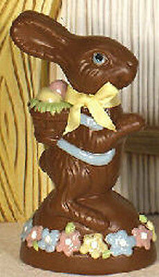 """Ceramic Bisque Ready to Paint Chocolate Bunny 7"""" tall"""