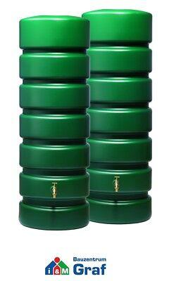 Graf Gartentank CLASSICO Wassertank Regentonne, dunkelgrün, 1.300 Liter /#326035 (1 Liter-tank)