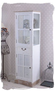 vitrine shabby chic vitrinenschrank landhausstil regal weiss schrank ebay. Black Bedroom Furniture Sets. Home Design Ideas