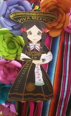Charros party suplies/1 figura fomi charra 100 cm  (Party Suplies)