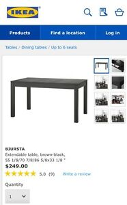 IKEA dining table with bench