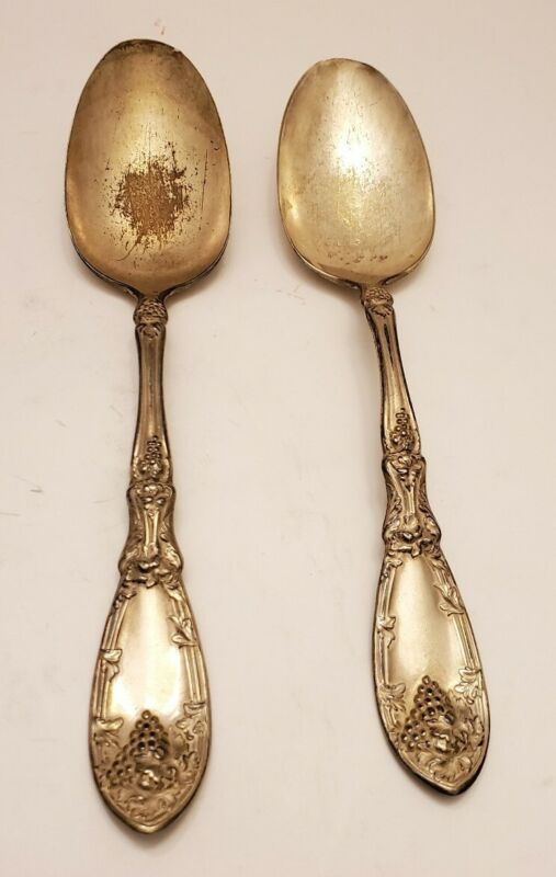 Antique VTG Silverware Rogers Bros 1881Oneida Flatware Dinner Serving Spoons HTF