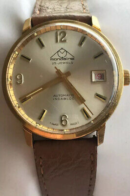 Gents Vintage Swiss Made 25 Jewels MONDAINE Antimagnetic Incabloc Watch
