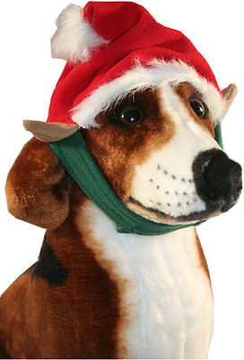 Pet Soft Loop - Fashion Pet ELF HAT Dog Soft Fleece Hook/Loop Chin Strap Closure Attached Ears