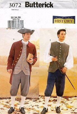 Butterick Herren Historische Kostüm Muster 3072 Größe 32-36 (Butterick Herren Kostüm Muster)