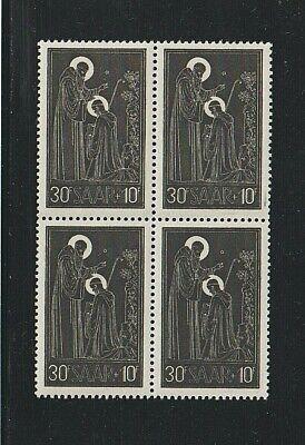 EDSROOM-7115 Saar B99 MNH 1953 Complete Block of 4 Blessing CV$10