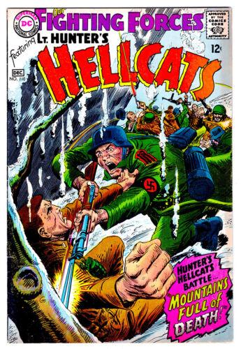 OUR FIGHTING FORCES # 110 in VF+ grade 1967 DC WAR comic LT. Hunter - KUBERT