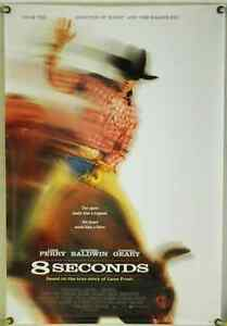 8 SECONDS ROLLED ORIG 1SH MOVIE POSTER LUKE PERRY LANE FROST RODEO BIO (1994)